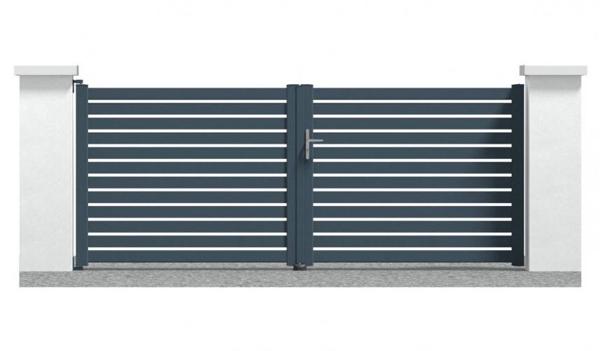 Portail alu Yonne 2 battant espace réduit